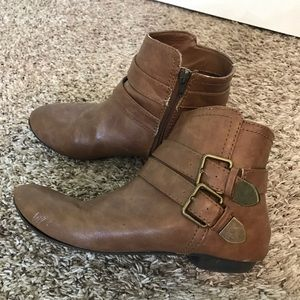 Express Brown Ankle Booties